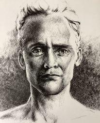 Gesicht, Tuschmalerei, Portrait, Zeichnungen