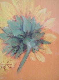 Malerei, Blumen, Kreide