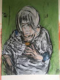 Pinsel, Pastellmalerei, Malerei,