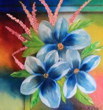 Blumen, Malerei, Acrylmalerei