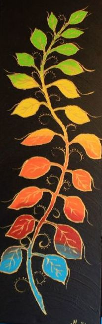 Acrylmalerei, Blattranke, Malerei, Jahreszeiten