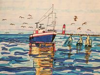 Bohle, Wasser, Fischerboot, Nordsee