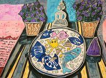 Fokussieren, Vase, Tisch, Pflanzen