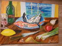 Wein, Fische, Bouillabaisse, Malerei
