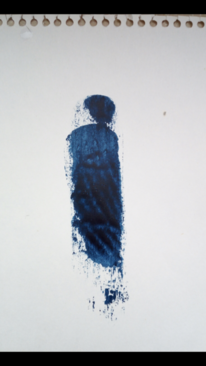 Blau, Frau, Gestalt, Malerei