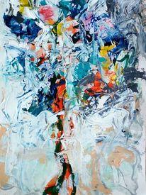 Luftballon, Gestalt, Wind, Malerei