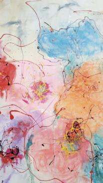 Bunt, Transparenz, Blumen, Malerei