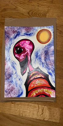 Alien, Fantasie, Fremde welten, Mischtechnik