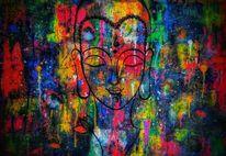 Ruhe, Innere freude, Buddha, Malerei