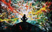 Meditation, Ruhe, Harmonie, Malerei