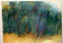 Savanne, Afrika, Kenia, Aquarellmalerei