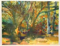 Palmen, Landschaft, Kokos, Savanne