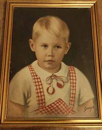 Junge, Portrait, Pinnwand,