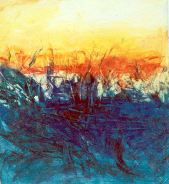 Frühwerk, Malerei, Abstrakt, Blick, Feld,