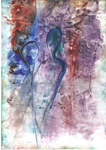 Spiegelung, Blau, Leichtigkeit, Rot, Grün, Paar