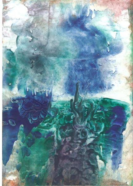 In bewegung, Spiegelung, Loslassen, Leichtigkeit, Malerei, Abstrakt