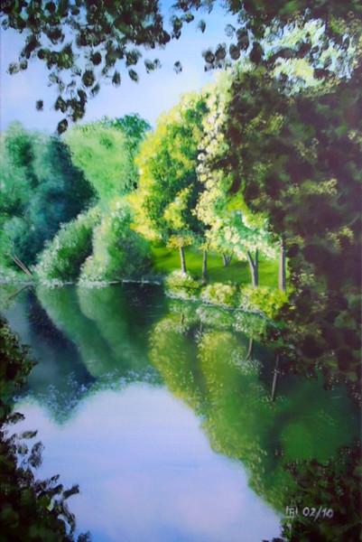 Angler, See, Malerei