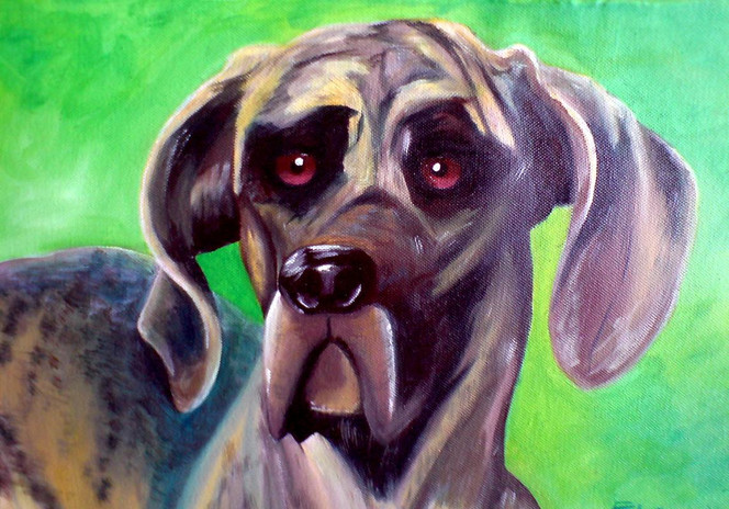 Dogge, Hund, Malerei, Tiere