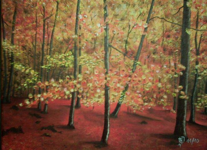 Wald, Buch, Malerei