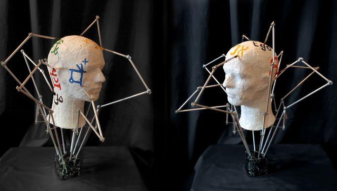 Wissen, Objekt, Surreal, Kopf, Plastik, Variation