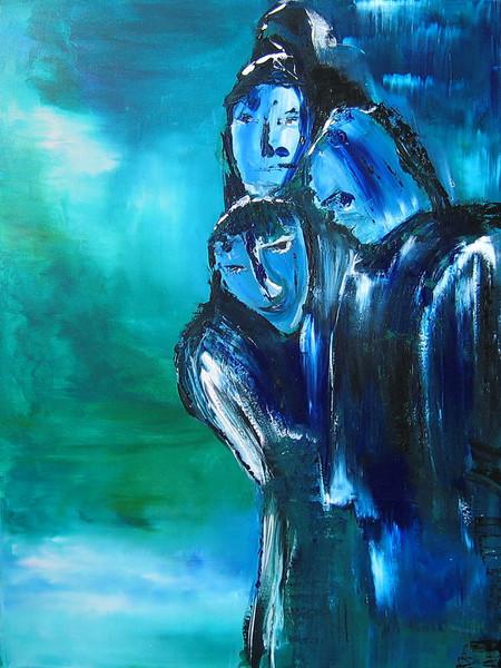 Blau, Gesicht, Heuchler, Lügen, Grün, Mimik