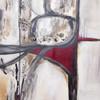Im Aussenspiegel - Katy Schnee, Kunst verkaufen, Auto, Kunst , Original , rot ,fahren, weg, straße