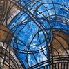 Malerei, Abstrakt, Kirche, Blau