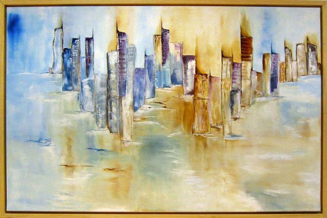 See, Wolkenkratzer, Stadt, Landschaft, Haus, Wasser