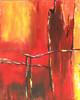 Deine BrückeI - brücke katy kunst neanderart rot schnee