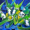 Esel, Blau, Anja huehn, Malerei