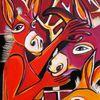 Esel, Besucherin, Rot, Phantasiewesen