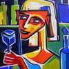 Bar, Expressionismus, Menschen bunt, Farben