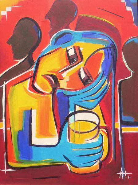Kummer, Menschen, Expressionismus, Gefühl, Bunt, Alkohol