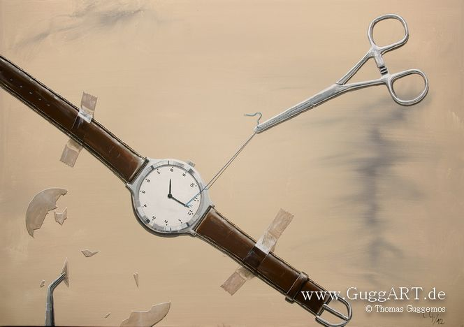 Zeit, Verzögeung, Realismus, Operation, Video, Acrylmalerei