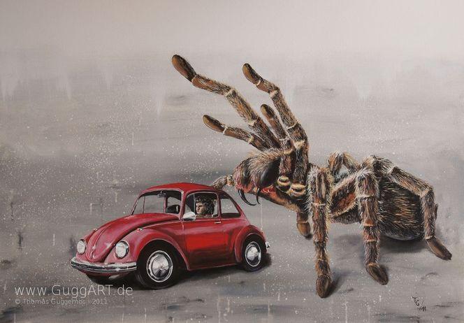 Spinne, Surreal, Käfer, Vw, Giftig, Vollkasko
