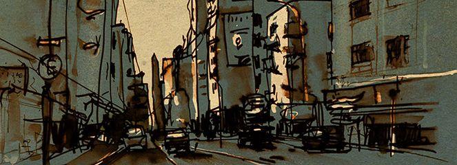 Stadt, Zeichnungen