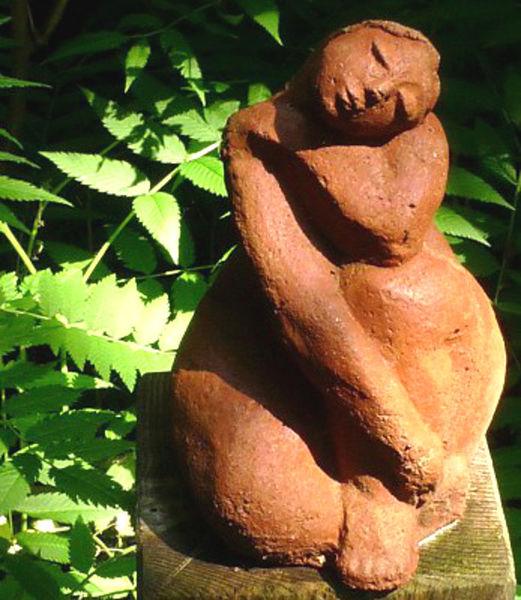 Frauenfigur, Keramik, Figur, Frau, Ton, Gartenfigur