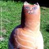 Keramikkunst, Gartenskulptur, Katze, Tonfigur