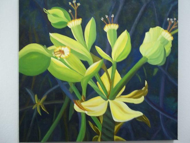 Blüte, Blumen, Ölmalerei, Pflanzen, Malerei