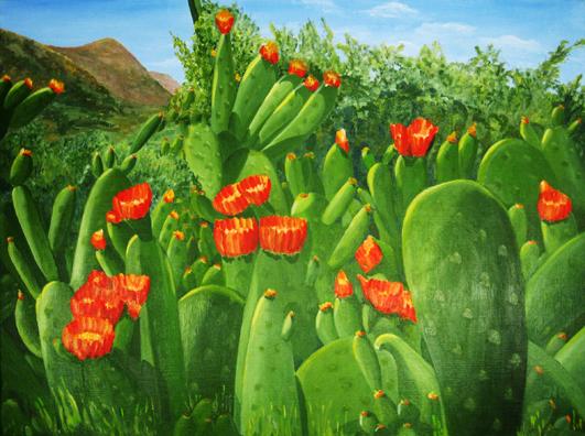 Blumen, Pflanzen, Ölmalerei, Blüte, Landschaft, Flora