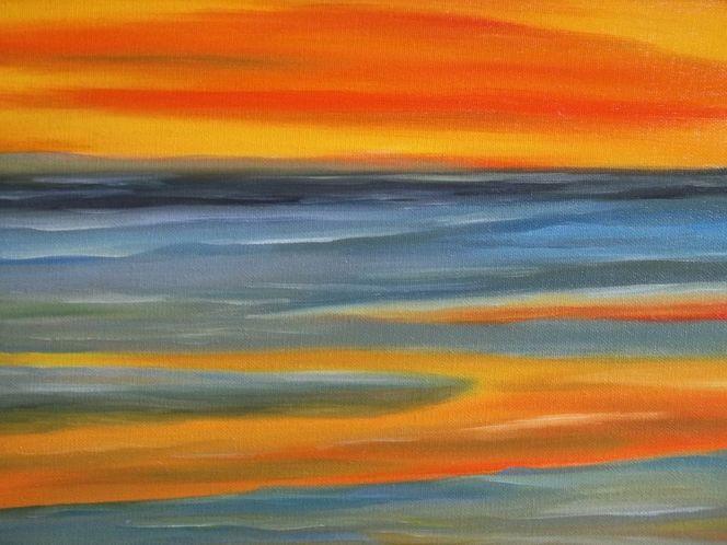 Meer, Wasser, Ölmalerei, Licht, Wolken, Malerei