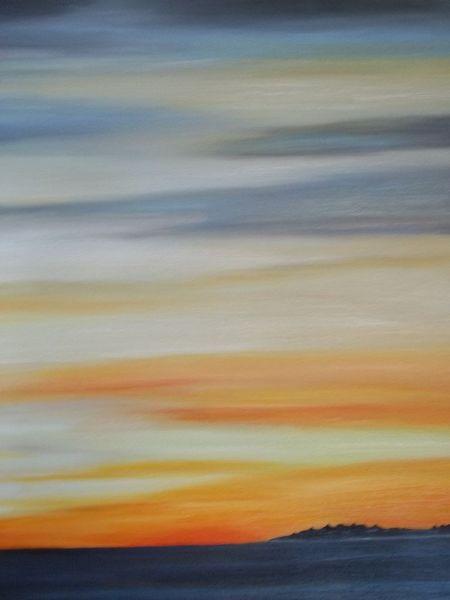 Ölmalerei, Hallig sand strand, Meer, Welle, Malerei, Wasser