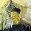 Gestein, Höhle, Felsen, Ölmalerei