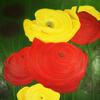 Blumen, Ölmalerei, Blüte, Flora