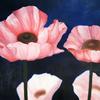Blau, Blüte, Ölmalerei, Blumen