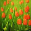 Flora, Ölmalerei, Landschaft, Blumen