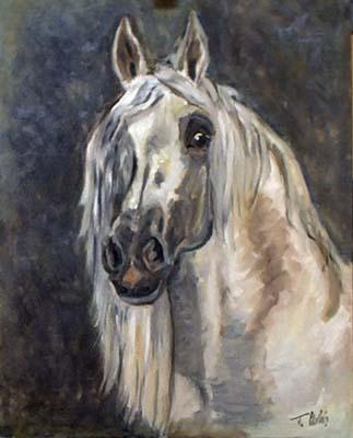 Pferdeportrait, Pferdemaler, Tierportrait, Tiermalerei, Porträtmalerei, Malerei