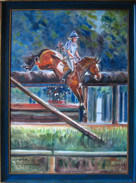 Geländeritt, Pferdeportrait, Pferdemaler, Malerei, Tierportrait