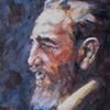 Portrait, Fidel castro, Porträtmalerei, Malerei
