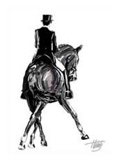 Pferdemaler, Traversale, Dressursport, Zeichnung, Pferdesport, Pferdemalerei